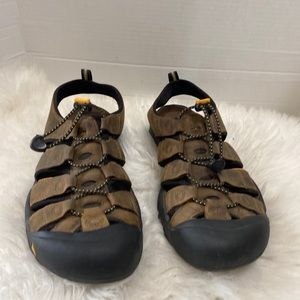KEEN NEWPORT Bison Brown Leather Waterproof